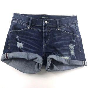 Bebe Distressed Denim Shorts Sz 27